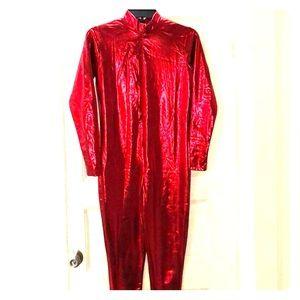 Red bodysuit costume